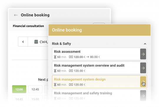 timify Flexible Booking widget