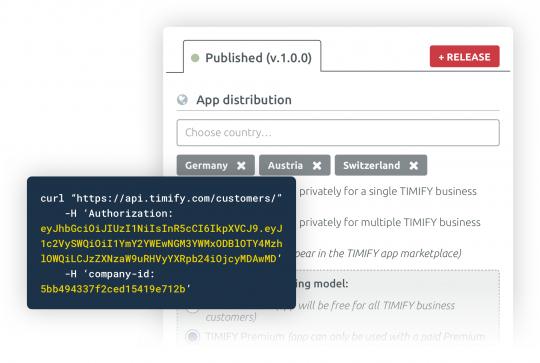 API et plateforme de développement