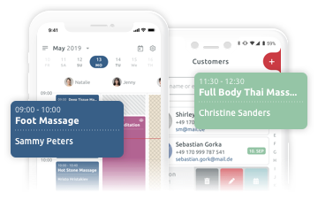 Mobile business app for scheduling