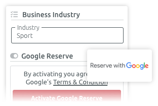 Reserve with google and TIMIFY