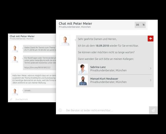 Interne chatservice, gesynchroniseerd met je agenda