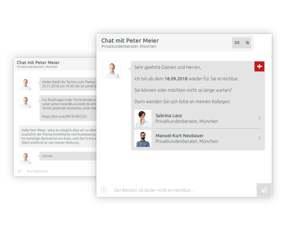 Internal chat service, synced to your calendar