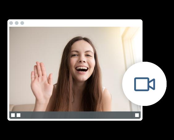 Videokonferenz ohne zusätzliche Plugins oder Software.