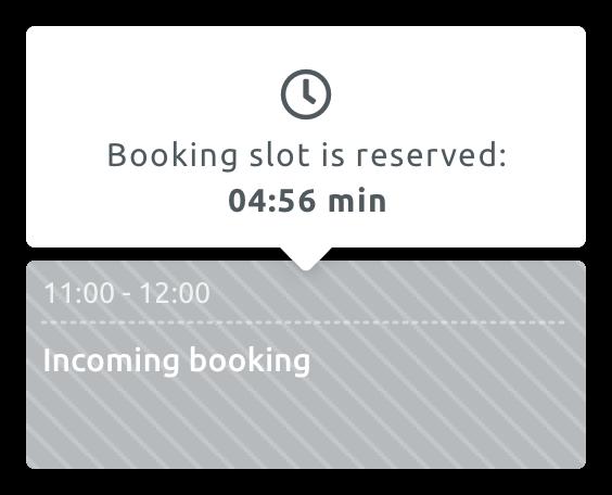 Блокиране на часа до завършване на резервацията