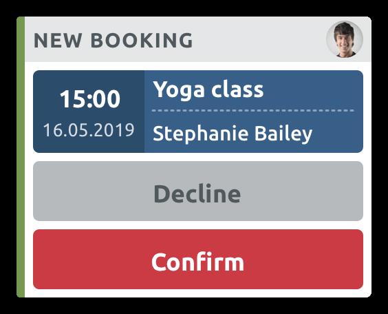 Manual Booking Confirmation