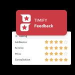 appli d'Avis clients timify
