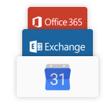 Синхронизации Google Calendar, Microsoft Exchange, Office365