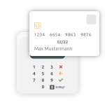 scheduling and payments via card terminal