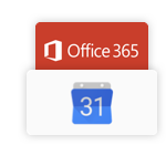 synchronisation with Google calendar and Microsoft 365