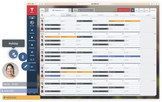 shift planner tool for agencies, law and tax companies
