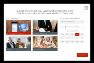 widget de reserva en todos los puntos de contacto del cliente