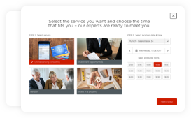 Direct bookings for valuation appointments