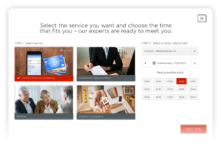 customised appointment booking widget