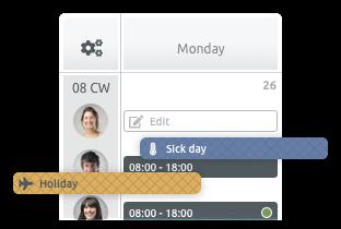 shift planning centri benessere