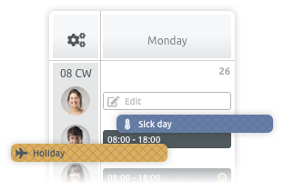 shift planning tool for spa and wellness