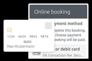 Termin- und Kreditkartenzahlung im Voraus