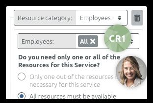 Vínculos entre servicios y recursos