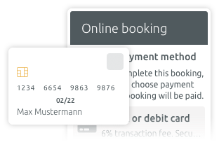scheduling and online payment with Stripe
