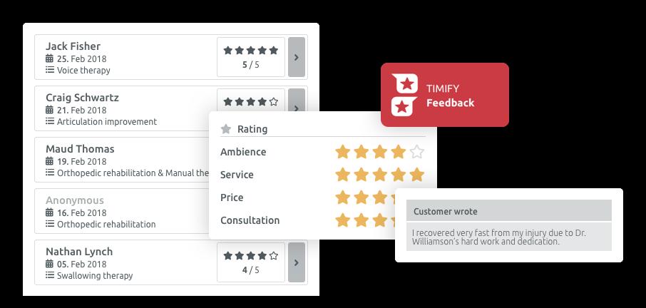 recensioni dei clienti app