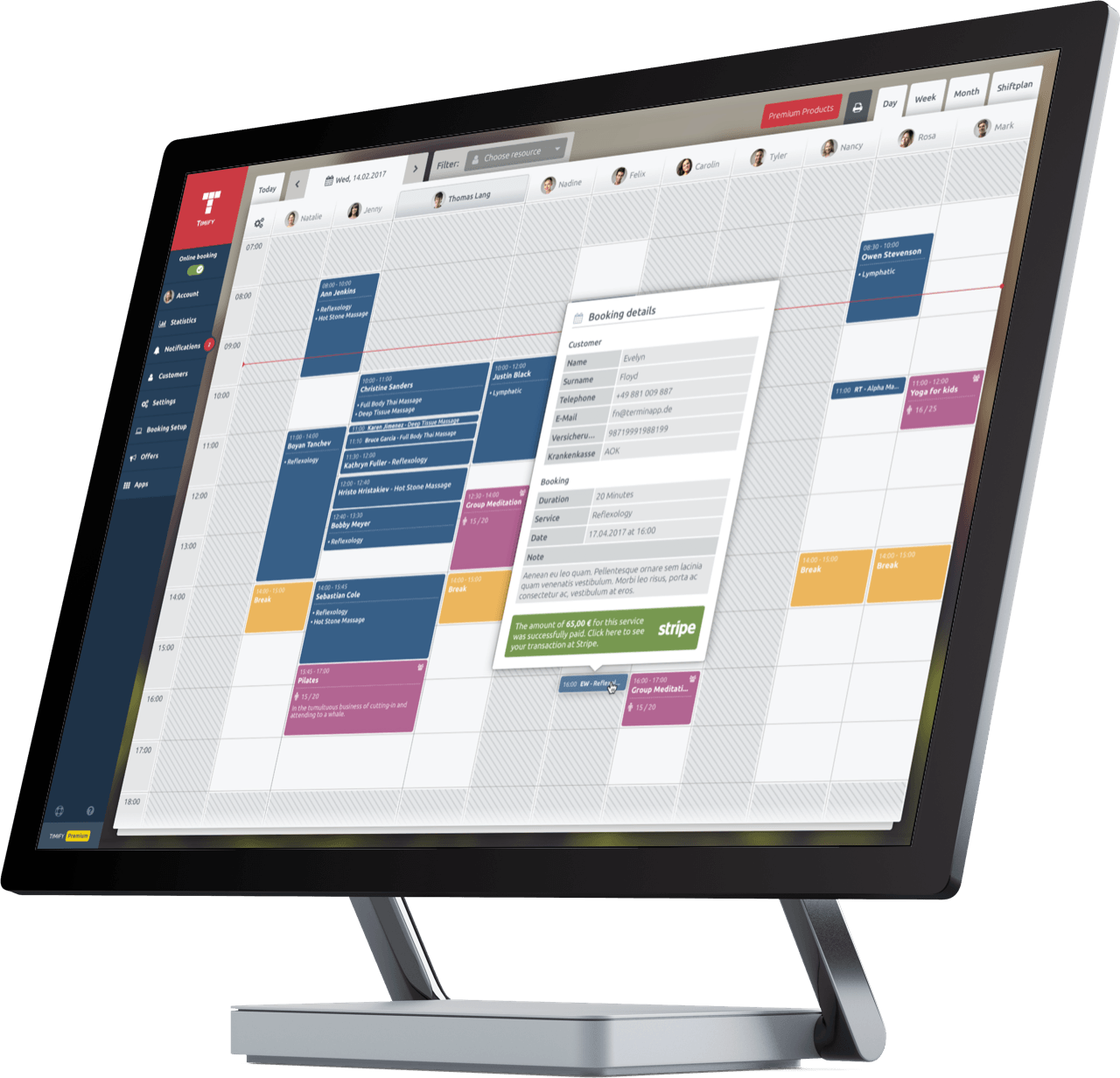 scheduling system for retail business