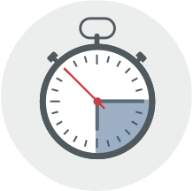 Icon for save time with an appointment booking system