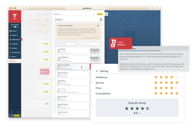 timify feedback tool for clients