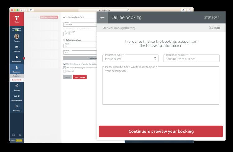 Extend booking data fields