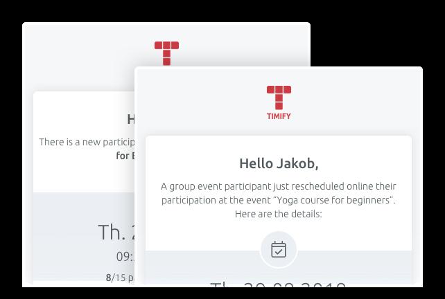 Mantieni i tuoi clienti sempre aggiornati con la nostra email di notifica