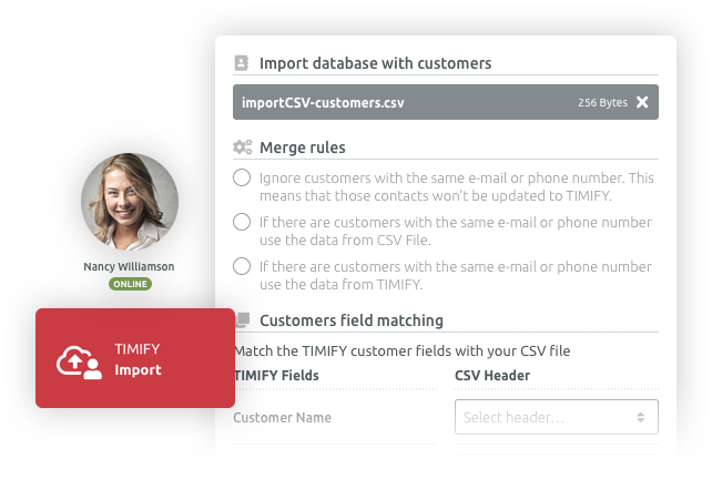 We import and match your customer data