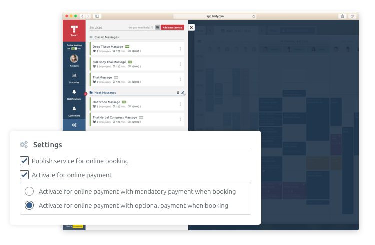 Online-Bezahlung für Terminbuchung