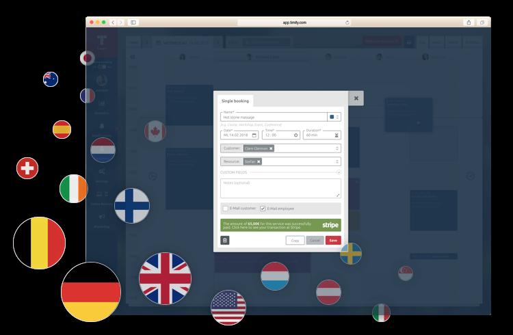 Sammeln Sie Online-Bezahlungen in 19 Ländern