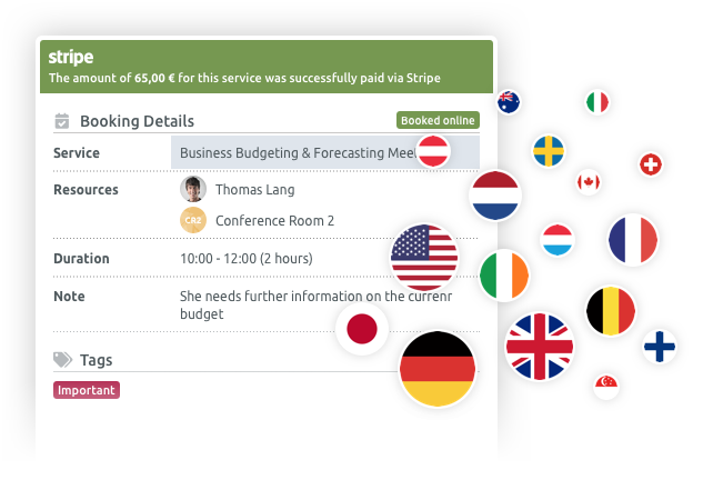 Collect online payments in 19 countries