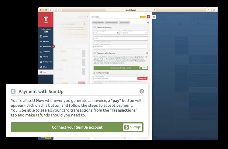 """TIMIFY & SumUp: la soluzione di pagamento """"tutto in uno"""""""
