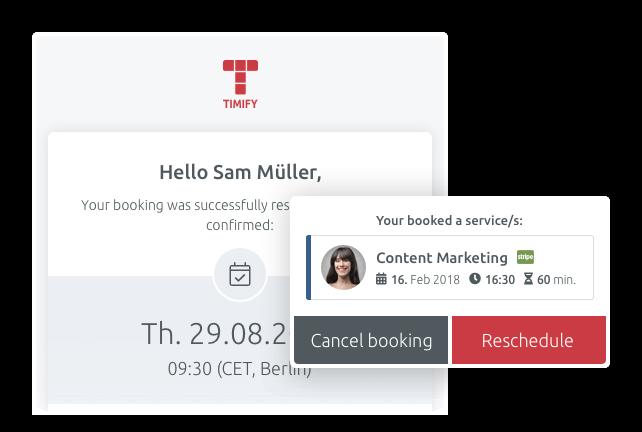 Customer booking history