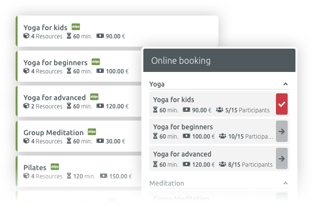 Booking classes made easy