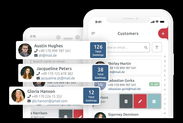 Klatenmanagement app