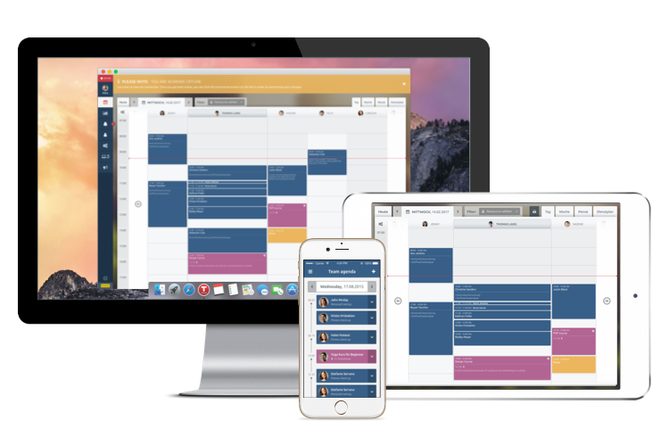 Cross platform appointment booking