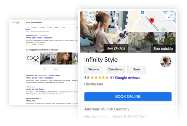 Réserver avec Google et Timify