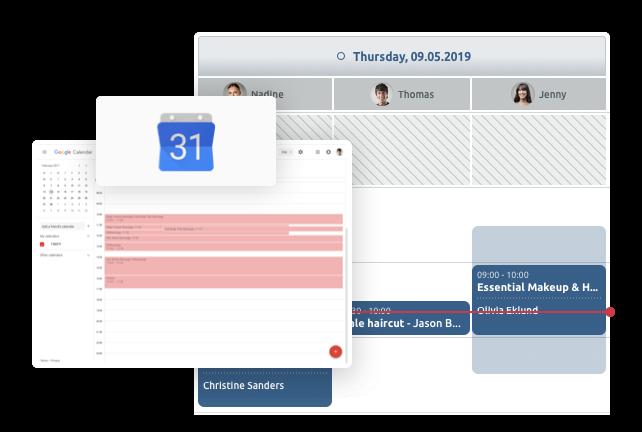 sincronice su calendario de google con el calendario de TIMIFY