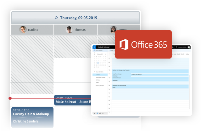 Synchronisation Microsoft Office 365 e timify