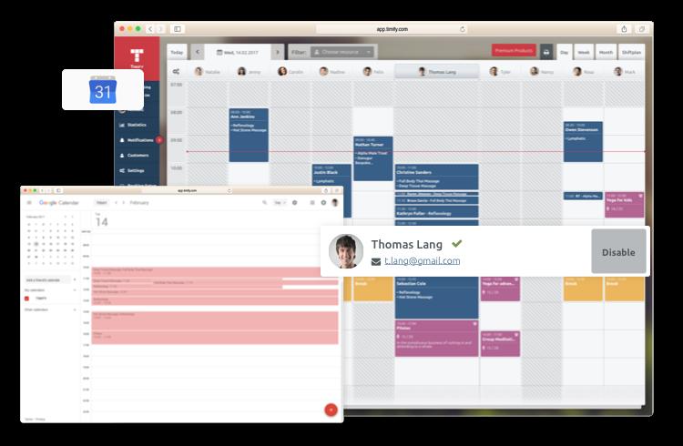 Google Kalender Sync und TIMIFY