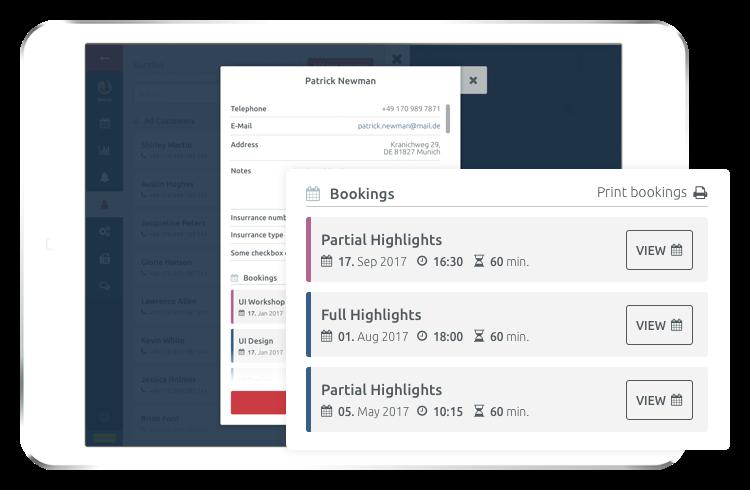 Visualizza la cronologia delle prenotazioni di tutti i tuoi clienti