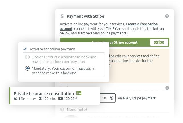 online payment for online scheduling