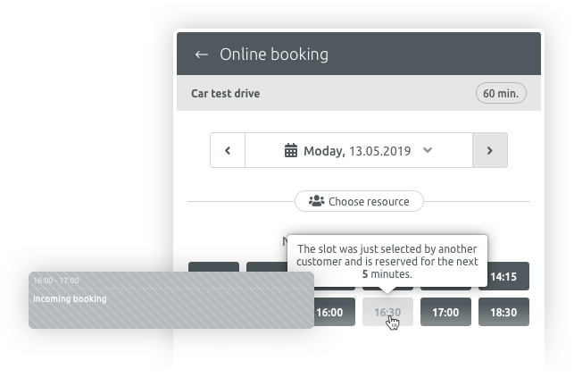 Avoid double bookings