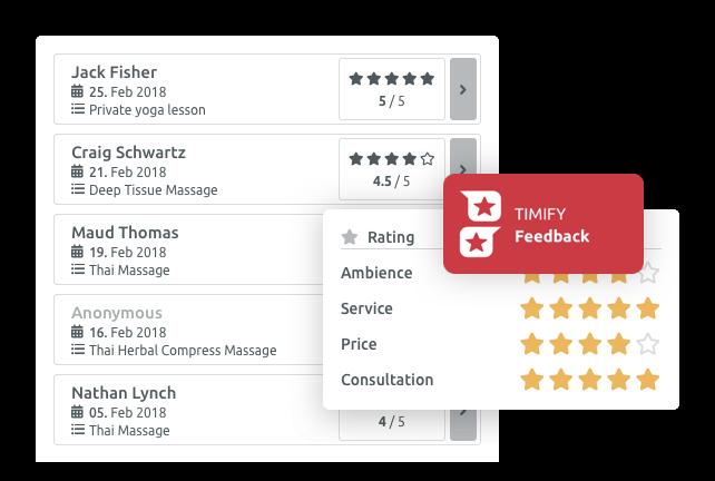 Ontvang klantenfeedback met de TIMIFY Feedback-app