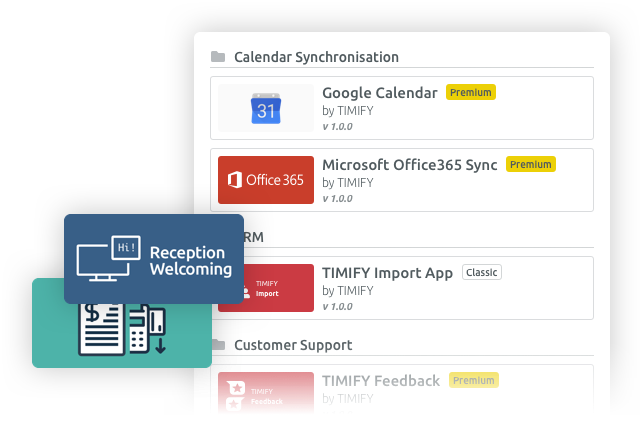 Extend the scheduling features with apps and add ons