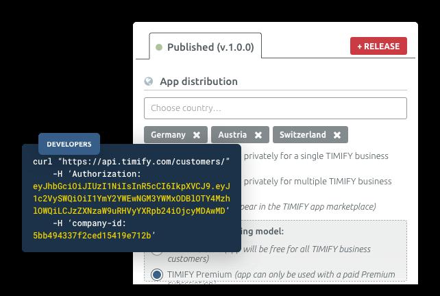 Accès à la plateforme Developer et API