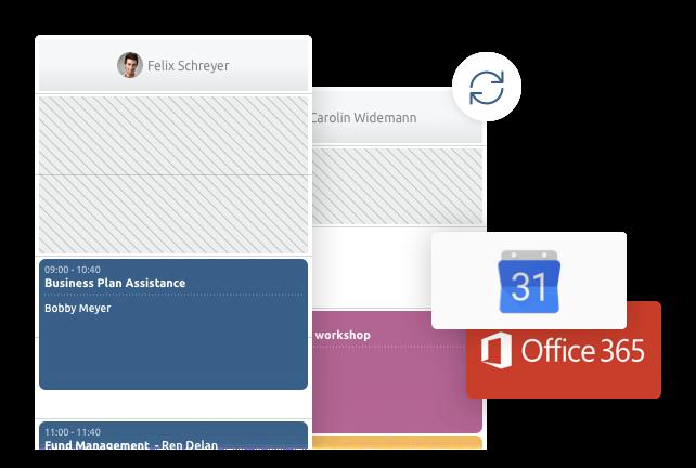Sincronización completa con Google y Outlook
