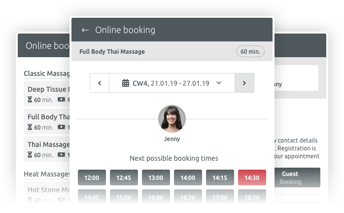 Online booking for Joomla, Wordpress and Drupal
