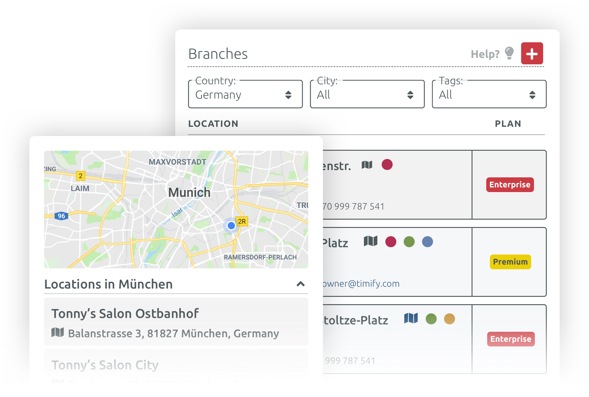 multiple location and branches appointment management